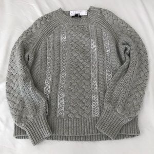 NWT J.Crew grey sequined sweater size small.